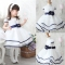 Baby Girls Kids Princess Christmas Party Bowknot White Formal Gown Tutu Dress GZ028A white 100