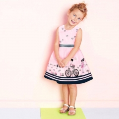 baby girl dress sleeveless princess dresses girls clothing pink cartoon sundress pink GL051A 90