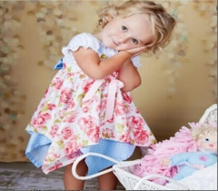 Baby Girl Dress Toddler Birthday Party Wedding Dress Kids Clothing pink GX070A 100