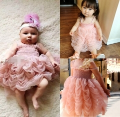 Kids Girls Pink tutu dress Fashion Infant Baby Birthday Gift pink GG021A 100