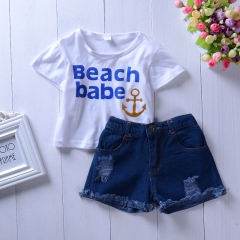 Baby Girl Clothing Set Summer Kids Toddler Outfit Infant Clothes royal blue 80