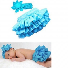 Baby Girls Kleding Ruched Solid Blue Midskirt Little Kids Lassok Skirt Bebe Fashion Casual Clothes blue GX017A 80
