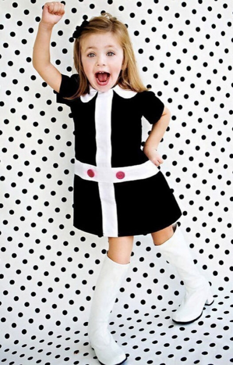BABY girl Dress Casual Princess Dresses Toddler Short Sleeve Girl Clothing black GX131A 2
