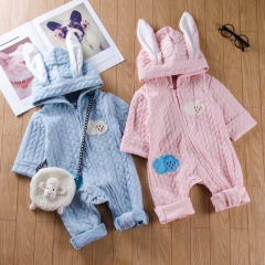 Cute Baby Girls Boys Rabbit Animal Romper Bodysuit Outfits pink GX561A 70