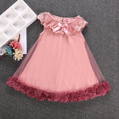 Baby girl Dress Kids Boutique Clothes Princess Wedding Party Birthday Dresses red GX009A 100
