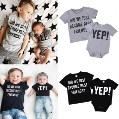 Newborn baby boys girls romper or Kids Baby Boys Top Clothing black ZM141AZM142A 100