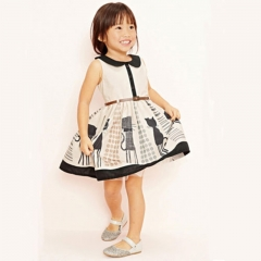 baby girl dress summer dresses princess birthdays party sundress gril clothing khaki GZ029A 110
