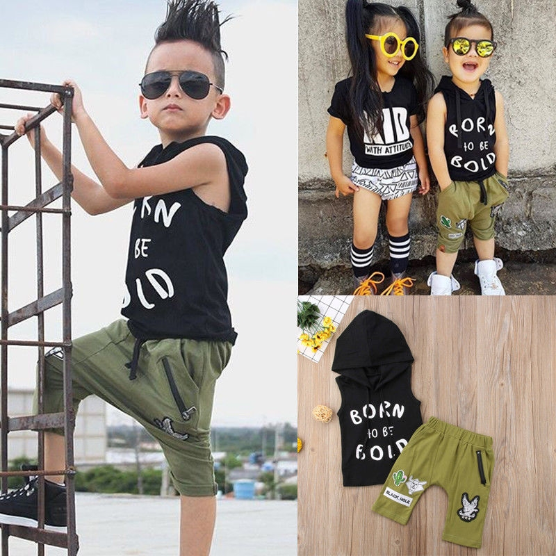 b05202332 Summer Kids Baby Boys Girls T-shirt Tops+Pants Set Tracksuit Toddler  Outfits Set army green ZM175A 70