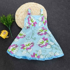 Promotion Clearance Baby Kids Princess Dress Wedding Birthday Party Girl Clothing Dresses blue GX067A 110