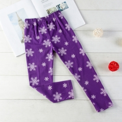 Promotion Clearance Baby Girl Pants Toddler Pants Casual Sleep Pajamas purple GX154B 100
