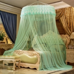 Round Dome Lace Curtain Mosquito Net Protect 4*5/5*6/6*6 Size Bed green one size
