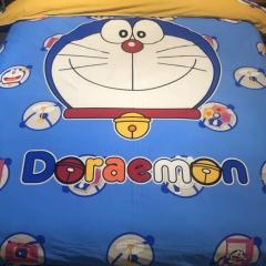 4pcs Emerizing Thick 100% Cotton Cartoon Bedding Sets Quilt Duvet Cover Flat Sheet 2 Pillow Cases Doraemon1 4*6