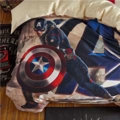 4pcs 100% Cotton MARVEL Super Hero Bedding Sets Quilt /Duvet Cover Flat Sheet Pillow Cases captain america 4*6