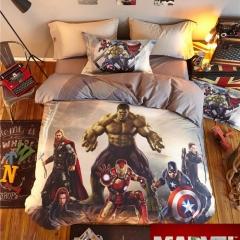 4pcs 100% Cotton MARVEL Super Hero Bedding Sets Quilt /Duvet Cover Flat Sheet Pillow Cases The Avengers 4*6