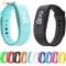 Silicon Strap Watch Date Sports Bracelet Digital LED Wrist Watch Best Present for Women & Men sky blue