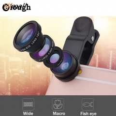 Fish eye universal 3 in 1 fisheye wide angle macro camera phone lens lentes celular red one size Ylfmall no