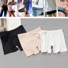 3 colors Ladies Summer Underwear Pantie Viscose Anti Emptied Leggings Pants black one size