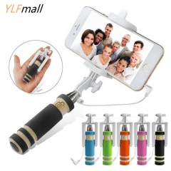 Super Mini Portable Trendy Selfie Stick Monopod black one size ylfmall no