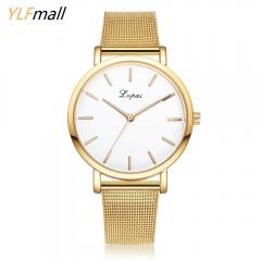 Classic Women's Men's Wrist Watch Steel Strap Quartz Casual Watches Original gold