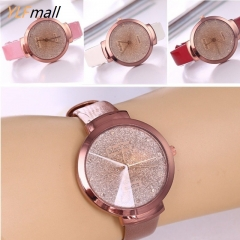 Matte Surface Simple Wild Watches for Men and Women Quartz Watches Waterproof with Genuine Leather black