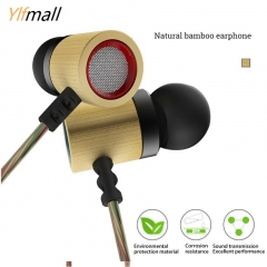 KZ ED7 Bamboo Wood Earphones with Microphone 3.5mm HD HiFi In Ear Monitor Bass Stereo Earbuds S size with Microphone