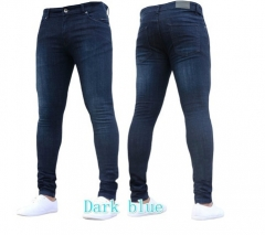 KiliFun Collection 1083 Men's Tight-fitting Stretch Denim Pants/Jeans Slim Fit Trousers dark blue s