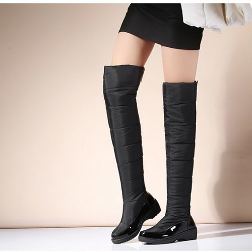 ec682e3ad24d Down Snow Boots Wedge Heel Knee High Boots Black US 3  Product No  386256.  Item specifics  Seller SKU C1124-3-Black  Brand