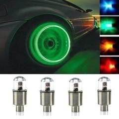 4pcs Car Motorcycle Bike Wheel Tire Tyre Valve Cap Neon LED Flash Rim Light Lamp blue