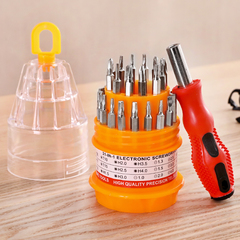 screwdriver combination suit multi-function soft shaft plus magnetizer hardware tool home set cross as shown 14cm*5cm 31 in 1 -