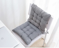 Soft thick suede solid color colorful decorative office chair cushion square lattice sofa cushion grey 40 * 40cm