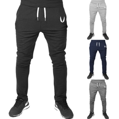 4 Colors Fitness Bodybuilding Man Sports Joggers Men's Pant Fashion Trousers Sweatpants Casual Pant black L