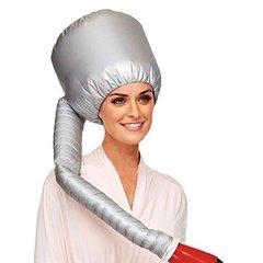 Practical Home Salon Barber Hair Dryer Bonnet Hood Head Cover Baked Oil Cap Hat Silver 39*23*100
