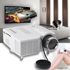 UC28 + mini portable 1080P HD projector home theater upgrade HDMI interface white 58*87*37mm