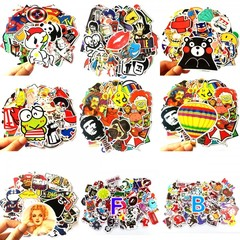 100 Car Stickers Motorcycle Bicycle Luggage Laptop Decal Graffiti Patches Skateboard Bumper Stickers Random color pattern 100pcs