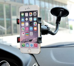 Universal 360 in Car Windscreen Dashboard Holder Mount For GPS PDA Mobile Phone Lazy bracket black one size