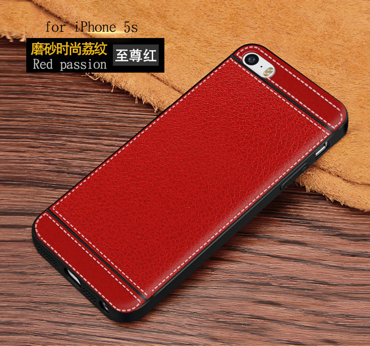 5XIAOHUO iPhone 5S phone case silicone skin anti-fall protection cover red  iphone 5/5s/se case