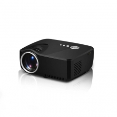 LCD Portable LED Projector 1080P Full HD 1200 Lumens HDMI USB FHD SD Home Theater Beamer black normal