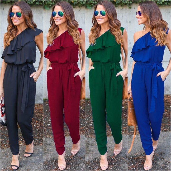 d2011924164 Summer Women Ladies Clubwear Playsuit Bodycon Party Jumpsuit Romper Trousers  black l