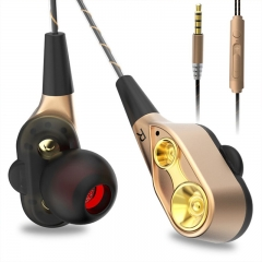 HUINIU In-ear Head phone 3.5mm Stereo Headset Microphone Sport Earphone MP3 PC Gaming Auriculares golden