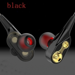 HUINIU In-ear Head phone 3.5mm Stereo Headset Microphone Sport Earphone MP3 PC Gaming Auriculares black