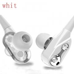 HUINIU In-ear Head phone 3.5mm Stereo Headset Microphone Sport Earphone MP3 PC Gaming Auriculares white