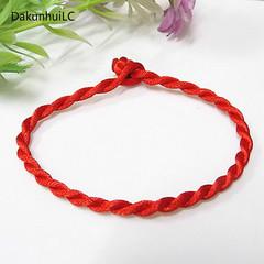 Fashion Red Thread String Bracelet Lucky Red Green Handmade Rope Bracelet for Women Men Jewelry Red 4mm