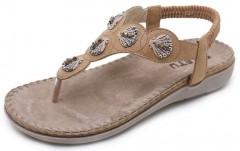 Women's Bohemia Summer Sandals T-Strap Beach Flat Casual Shoes Gagigakac