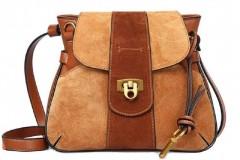 Women's Leather Handbags Simple Shoulder Handbag Saddle Bag Retro Lady Bag By Gagigakac