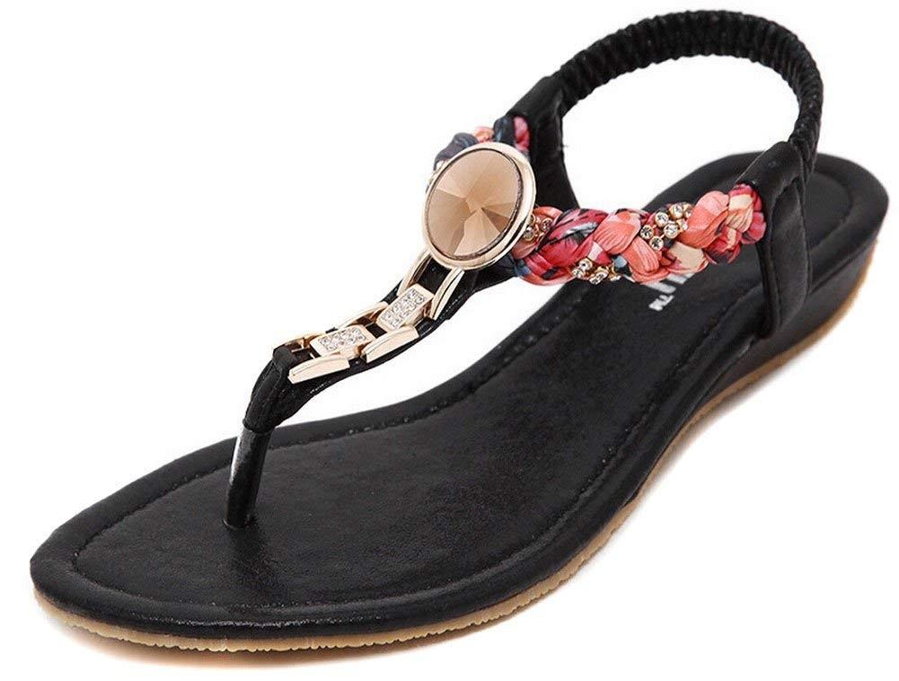 6523a359fec07d Gagigakac Fashion Shoes Women s Casual Gem Sandals Summer ShoesFlat ...