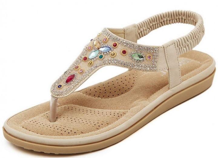 00eb54eaadaf97 Gagigakac Fashion Shoes Women s Rhinestone Casual Sandals Summer Shoes