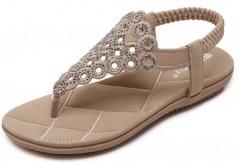 Gagigakac Women's Flat Sandals Thong Casual Beach Shoes by