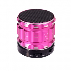 S28 Portable Bluetooth Speaker Wireless Mini Stereo Bass Speaker With Mic Support FM Radio Rose Gold 60x60x50mm