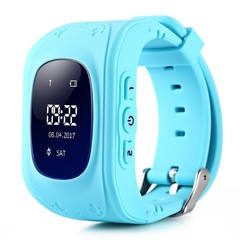 Q50 Children OLED display Smart Watch Callable Watch phone Waterproof SOS GPS anti-lost blue