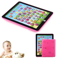 Kids Children English Learning Pad Toy Educational Computer Tablet Pink one size